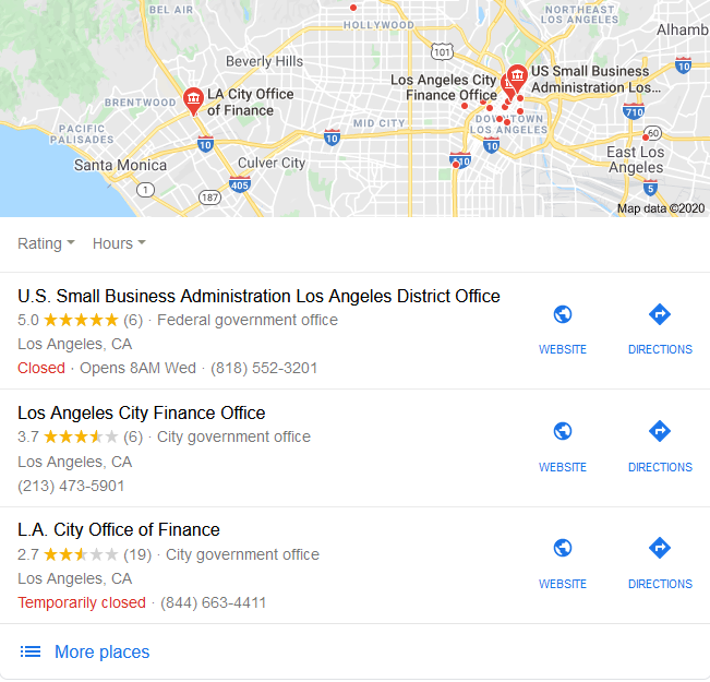 Google My Business maps
